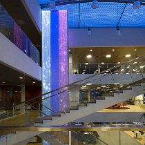 "NRGi Headquarters, Århus, Denmark / ""Lightfall"" by artist Astrid Krogh / Photo by Ole Hein Pedersen"