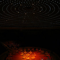 Whirling Dervish Arena, Mevlana Cultural Centre, Konya, Turkey / Lighting design by Dr. Mehmet Kücükdogu / Photo by Aydin Sertbas