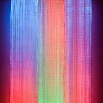 """""""IKAT III"""" light tapestry by artist and textile designer Astrid Krogh"""