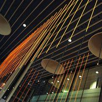 The Eyecon Bar, Copenhagen Airport, Denmark / Lighting designer Jesper Kongshaug / Architect Laura Stamer / Photo by Laura Stamer